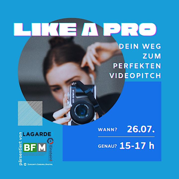 like a pro - Dein Weg zum perfekten Videopitch: Bild