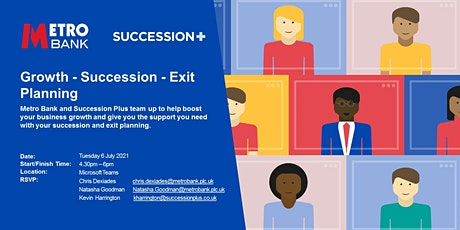 Growth – Succession – Exit Planning tickets