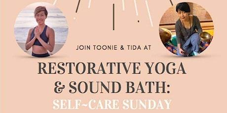 Self care Sunday Restorative yoga & Sound bath tickets