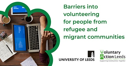 Barriers into volunteering for people from refugee & migrant communities tickets