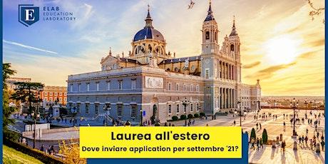 Laurea all'estero – dove posso ancora inviare application per settembre'21? biglietti