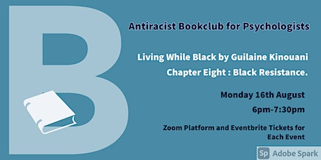 August Antiracist Bookclub for Psychologists Zoom Meeting. tickets