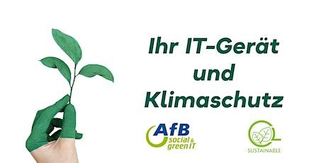 Ihr IT-Gerät und Klimaschutz - EURO PLAZA  und AfB Österreich tickets