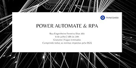 Workshop Power Automate & RPA bilhetes