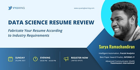 Data Science Resume Review tickets