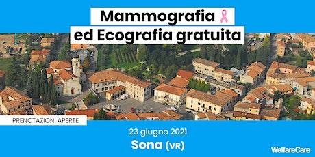 Mammografia ed Ecografia Gratuita - Sona (VR) biglietti