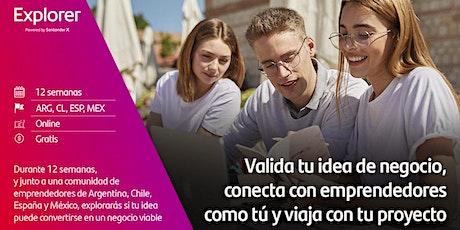 Sesion Informativa  del Programa Explorer de Emprendimiento Joven tickets