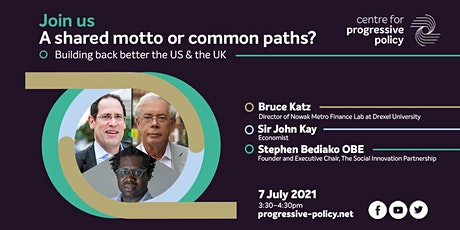 A shared motto or common paths? Building back better the US & the UK tickets