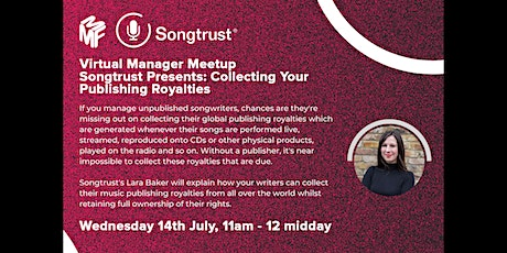 MMF - Songtrust Presents: Collecting Your Publishing Royalties tickets