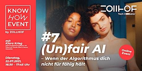 #7 Know How Event - Online Edition: (Un)fair AI Tickets