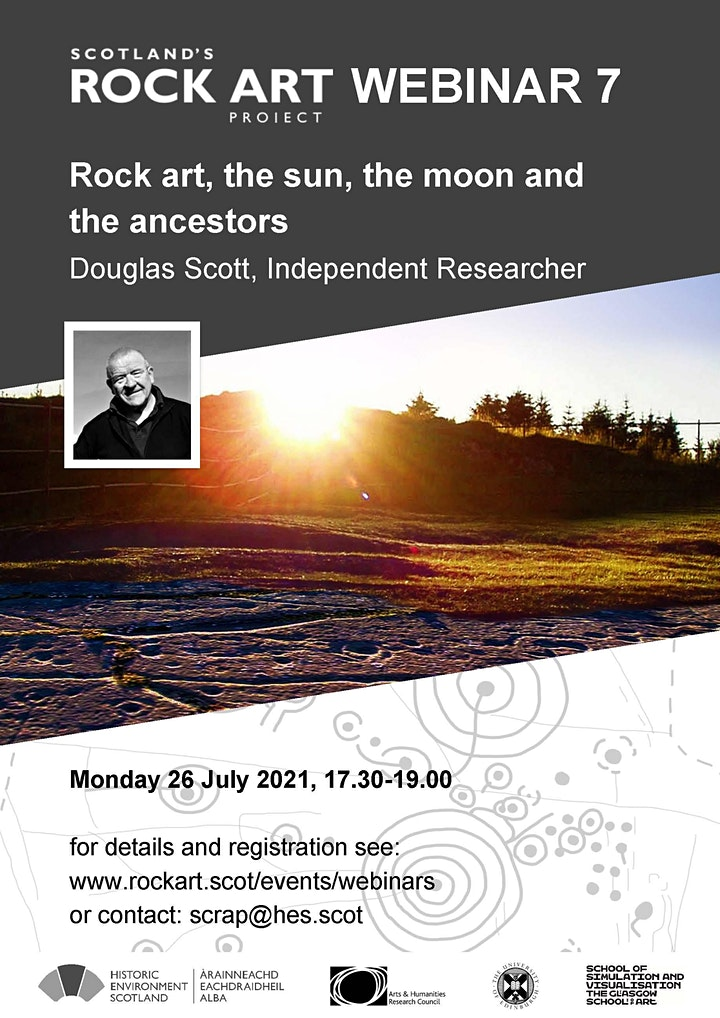 Rock art, the sun, the moon and the ancestors image