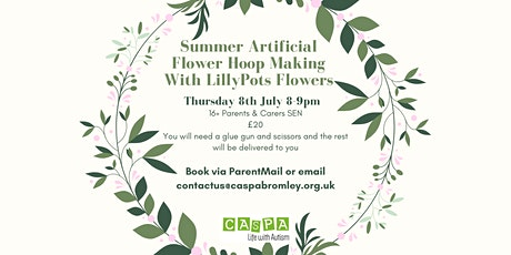 Parents & Carers of ASC/SCD Children/Adults Flower Hoop Making tickets