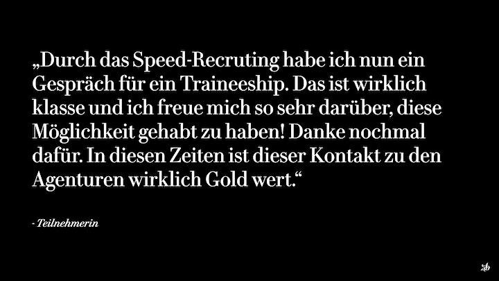ADC Speed-Recruiting - Tickets für Bewerber*innen: Bild