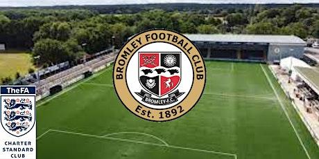 U18s  Bromley FC  Youth Trials for Tandridge League  2021/2022 season. tickets