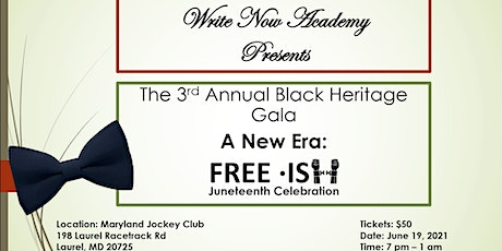 Copy of 3rd Annual Black Heritage Gala, A New Era: tickets