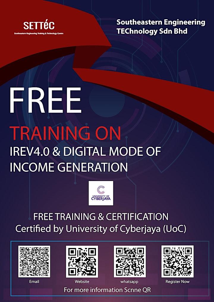 Free Training & Certification - IR4.0 & digital mode of income generation image