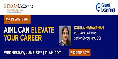Ask Me Anything| AI and beyond with PGP-AIML alumnus  Kokila Narayanan tickets
