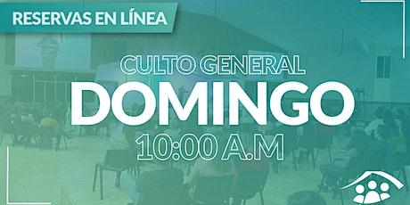 Culto Presencial Domingo / 27 Junio / 10:00 am boletos