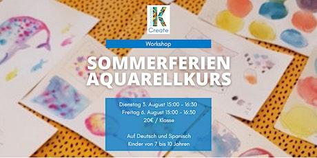 Sommerferien Aquarellklassen für Kinder (7-10 Jahren) Tickets