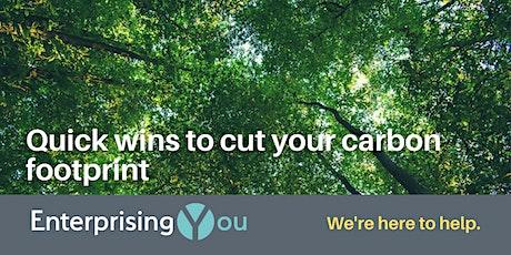 EnterprisingYou: Quick wins to cut your carbon footprint tickets