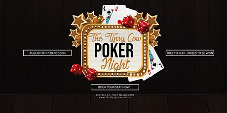 The Tipsy Cow - Monthly Poker Night tickets