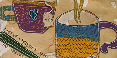 Art Journaling for wellbeing - Sgraffito mixed media workshop  acrylics tickets