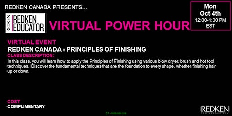 REDKEN CANADA - PRINCIPLES OF FINISHING tickets