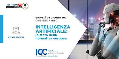 Intelligenza Artificiale: lo stato della normativa europea biglietti
