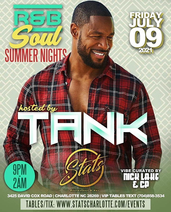 TANK R& B Soul Summer Nights   JULY 9 @ STATS image