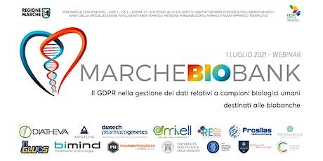 Il GDPR nella gestione dei dati relativi a campioni biologici umani biglietti