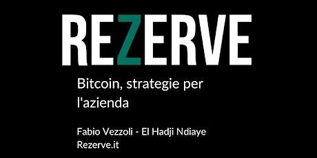 Bitcoin, strategie per l'azienda. biglietti