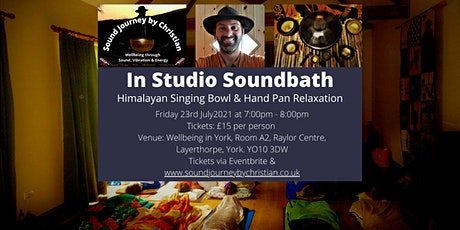 In Studio Soundbath Relaxation: Himalayan Singing Bowls and Hand-Pan tickets