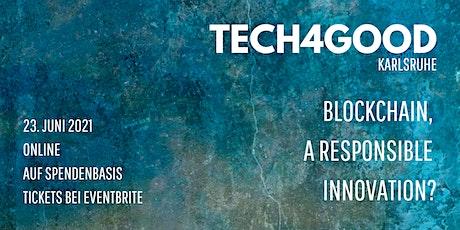 Tech4Good | Blockchain, a responsible innovation? tickets