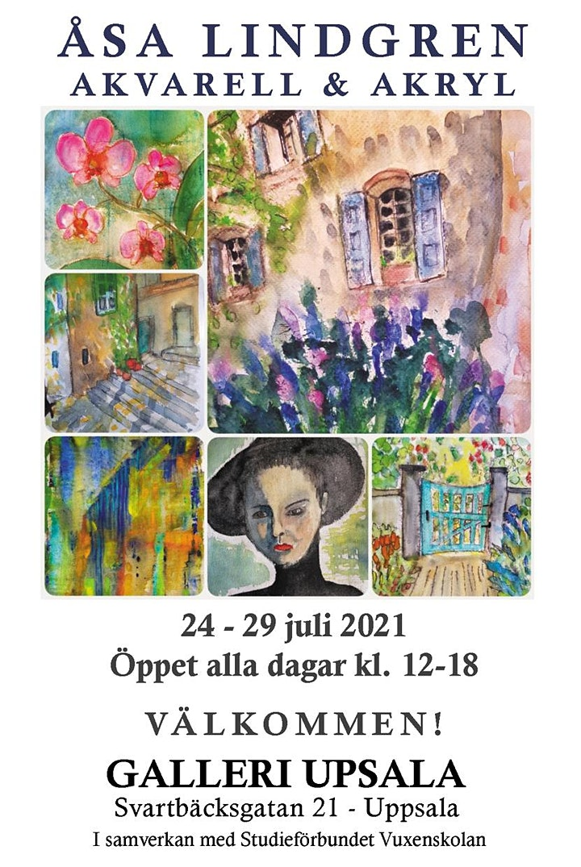 Åsa Lindgren - Akvarell & Akryl på Galleri Upsala bild