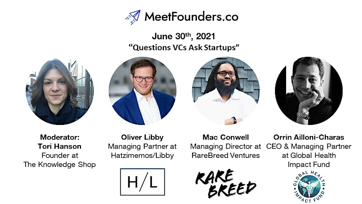 MeetFounders North America [June 2021] Venture Capital Conference image