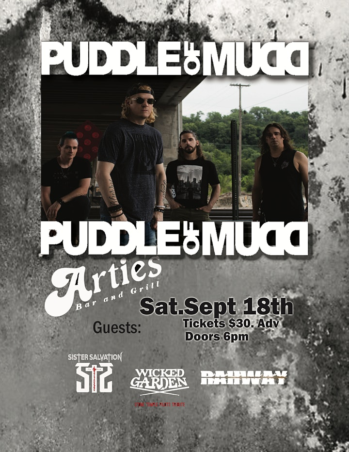 RAHWAY in support of PUDDLE OF MUDD at ARTIES Frenchtown NJ image