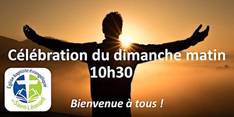 Célébration 27 juin/10h30 (Pas d'inscriptions requises dès la sem. proch.) billets