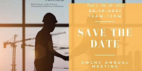 UMCNC Annual Meeting 2021 - Part 2 tickets