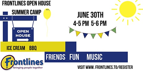 Frontlines Summer Pop up  and Open House tickets