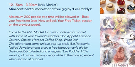 Festival Day 1 - Milk Market - Mini-market and gig by Les Paddys tickets