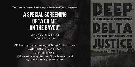 """A Special Screening of """"A Crime on the Bayou"""" tickets"""
