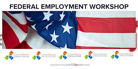 Federal Employment  July Workshop - Virtual tickets
