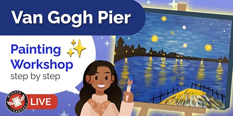 Acrylic Painting Workshop - Step by Step Lesson for Kids (Van Gogh Pier) tickets