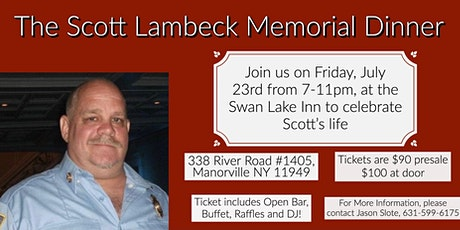 The Scott Lambeck Memorial Dinner tickets