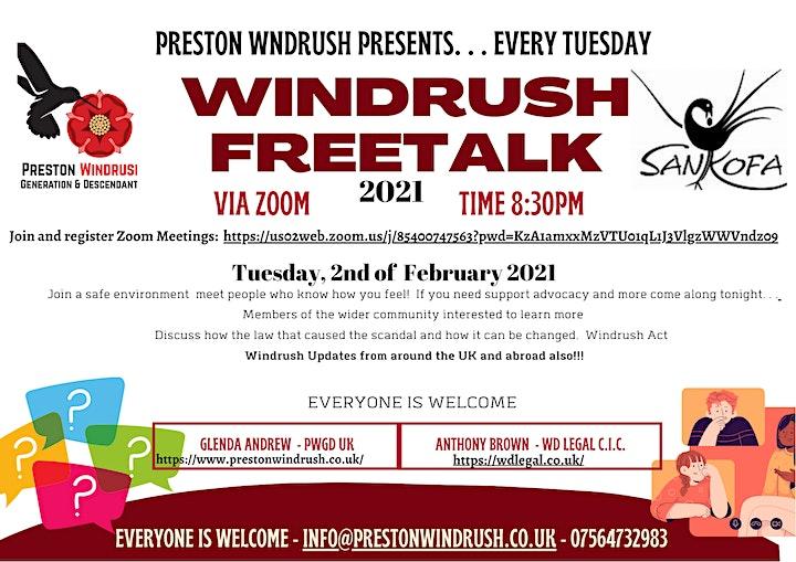 Windrush Conferences 'FREETALK' image