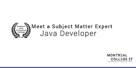 Meet a Subject Matter Expert  Full Stack Developer Java tickets