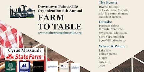 DPO Farm to Table tickets
