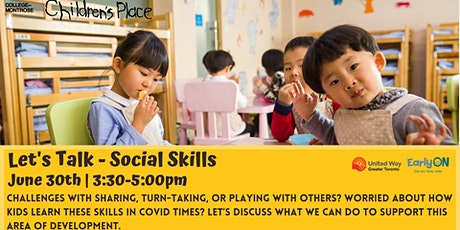 Let's Talk - Social Skills for Toddlers and Kindergarteners! tickets