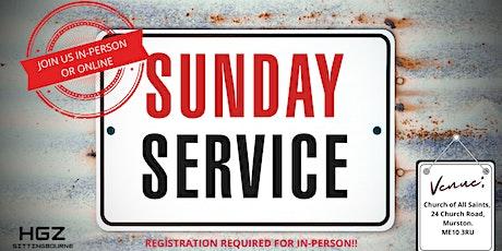 HGZ Sittingbourne Sunday Service 20th June tickets