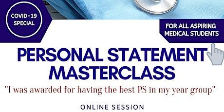 Online Personal Statement Masterclass tickets